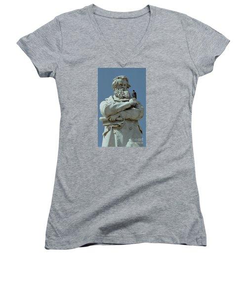 Gossip Women's V-Neck T-Shirt (Junior Cut) by Michael Swanson