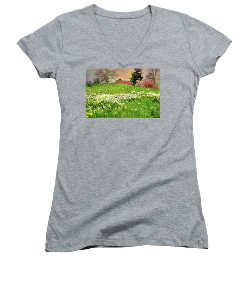 Women's V-Neck T-Shirt (Junior Cut) featuring the photograph Got A Thing For You by Diana Angstadt