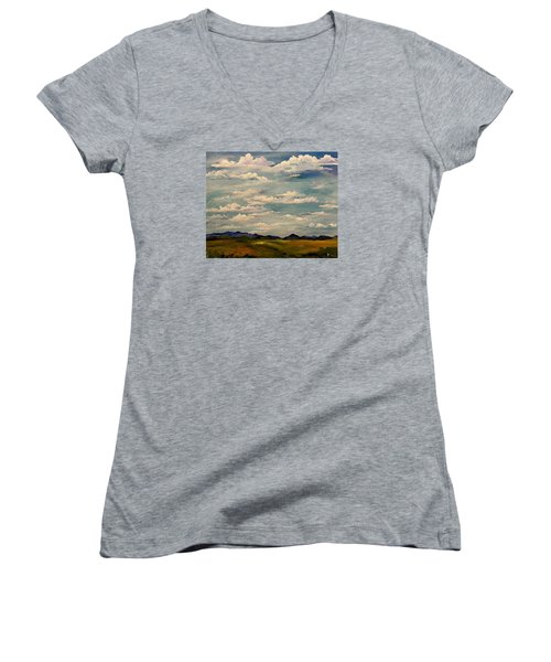 Got Clouds Women's V-Neck (Athletic Fit)