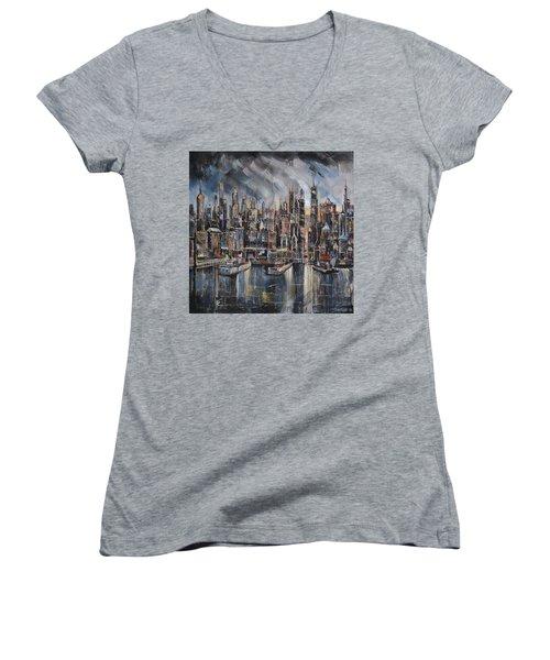 Gotham City Women's V-Neck