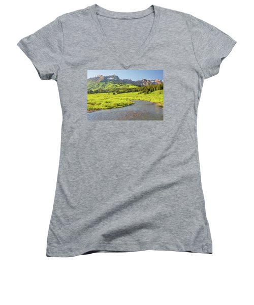 Gothic Valley - Early Evening Women's V-Neck T-Shirt