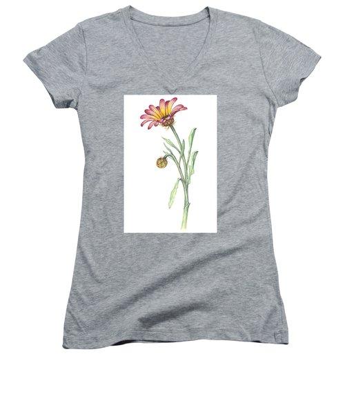 Gousblom Women's V-Neck T-Shirt (Junior Cut) by Heidi Kriel