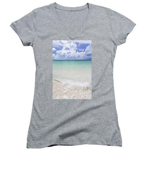 Women's V-Neck T-Shirt (Junior Cut) featuring the photograph Grace by Chad Dutson