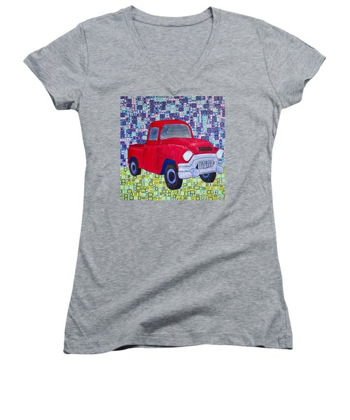 Gramps Had A Green Truck Women's V-Neck