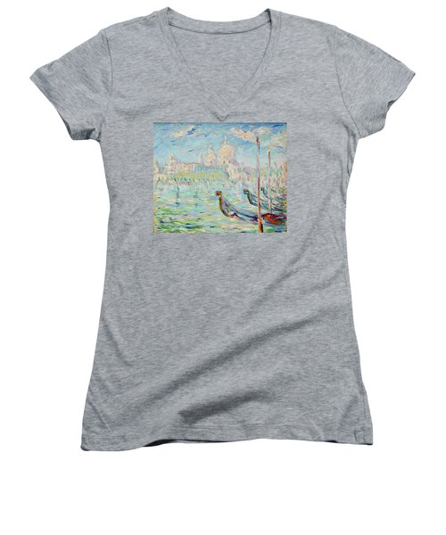 Grand Canal Venice Women's V-Neck T-Shirt