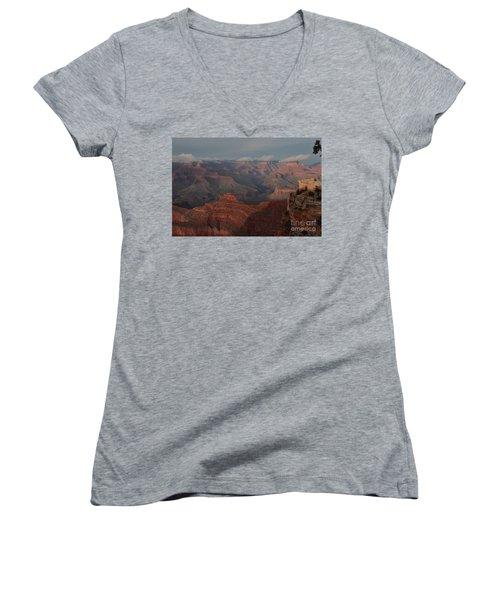 Women's V-Neck T-Shirt (Junior Cut) featuring the photograph Grand Canyon 1 by Debby Pueschel