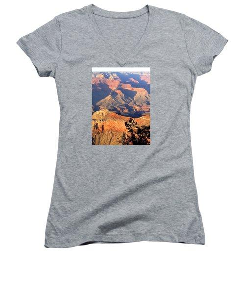 Grand Canyon 50 Women's V-Neck T-Shirt (Junior Cut) by Will Borden