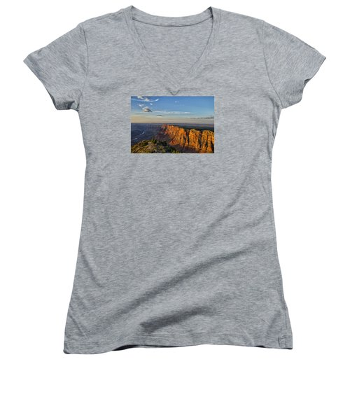 Women's V-Neck T-Shirt (Junior Cut) featuring the photograph Grand Canyon Daze by Tom Kelly