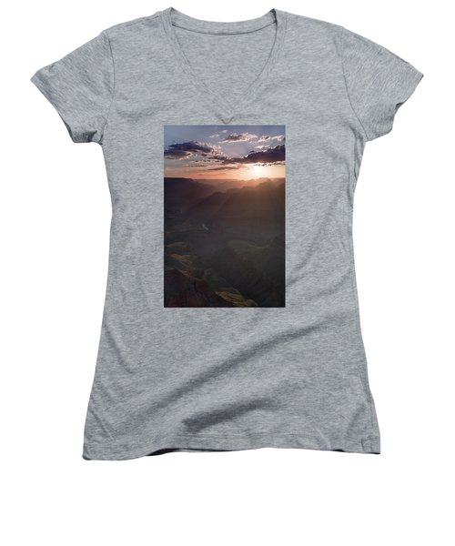 Grand Canyon Glow Women's V-Neck (Athletic Fit)