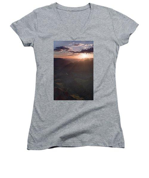 Grand Canyon Glow Women's V-Neck T-Shirt (Junior Cut)
