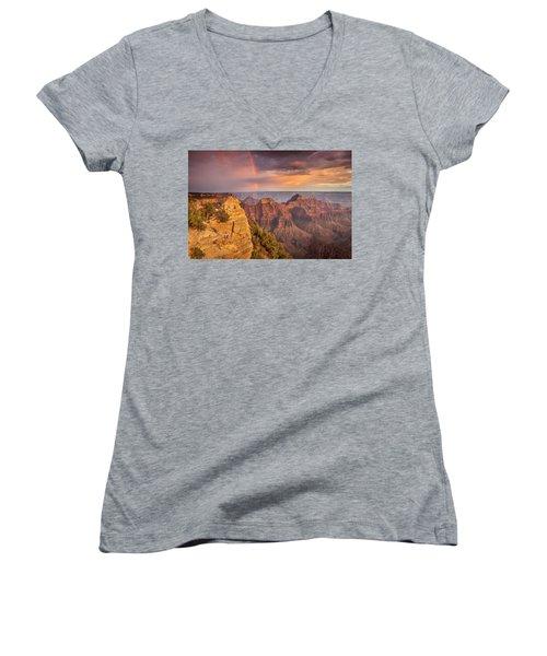Grand Canyon North Rim Rainbow Women's V-Neck