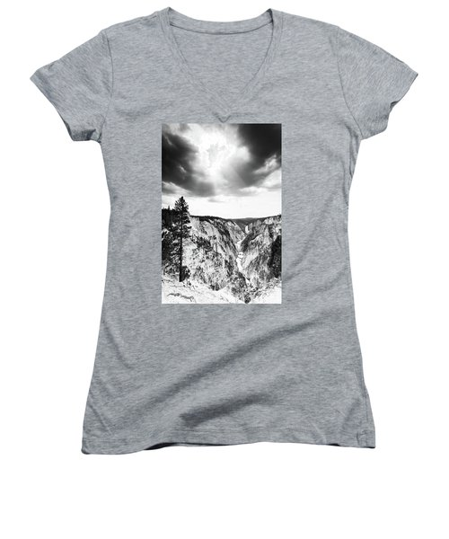 Grand Canyon Of The Yellowstone Women's V-Neck