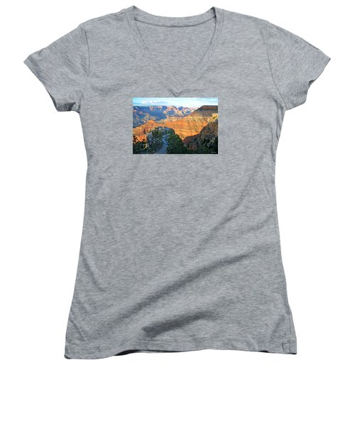 Grand Canyon South Rim At Sunset Women's V-Neck
