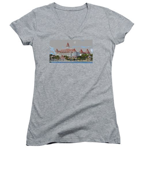 Grand Floridian In Summer Women's V-Neck (Athletic Fit)