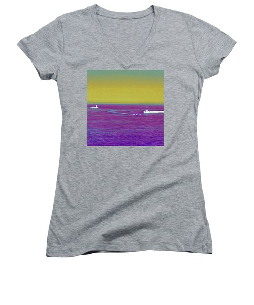 Purple Sea Women's V-Neck