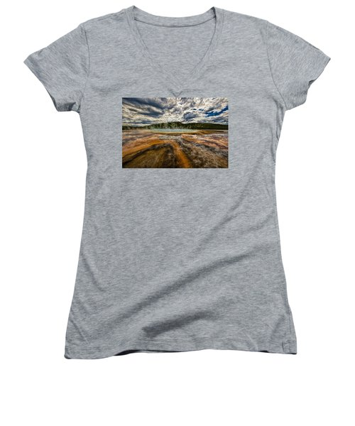 Grand Prismatic Spring Women's V-Neck (Athletic Fit)