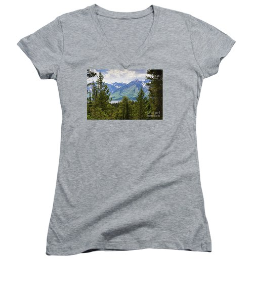 Grand Teton Mountains Women's V-Neck