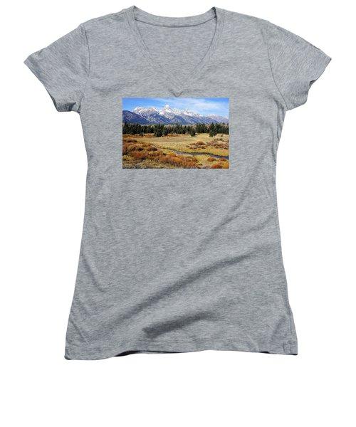 Grand Teton Women's V-Neck T-Shirt