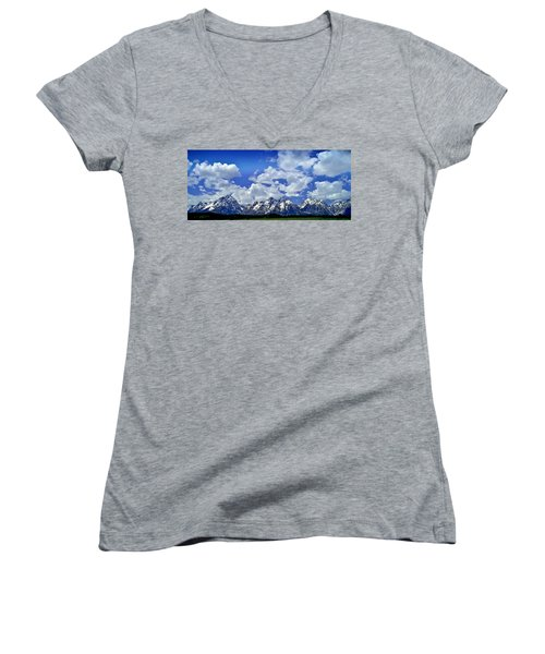 Grand Tetons Women's V-Neck T-Shirt