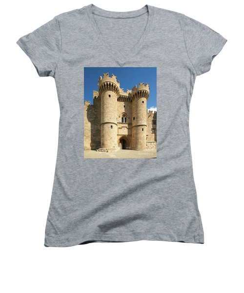 Grandmaster Palace Rhodes Island Greece 1 Women's V-Neck (Athletic Fit)