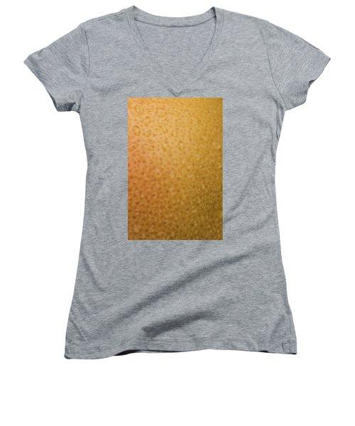 Grapefruit Skin Women's V-Neck T-Shirt (Junior Cut) by Steve Gadomski
