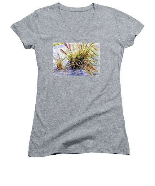 Grass 1 Women's V-Neck (Athletic Fit)