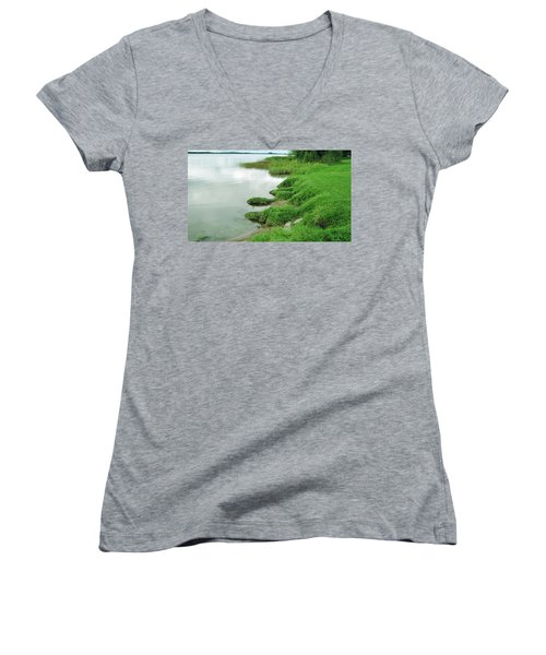 Grass And Water Women's V-Neck