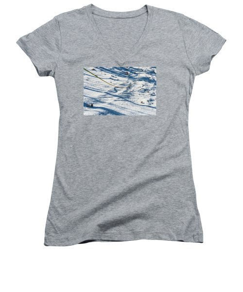 Grass Scapes In The Sand Women's V-Neck (Athletic Fit)