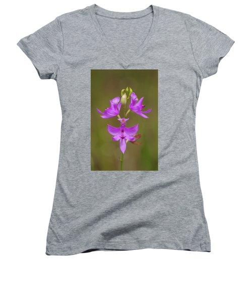 Grasspink #1 Women's V-Neck T-Shirt