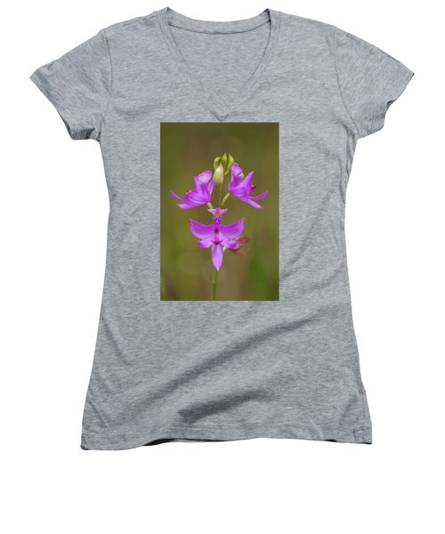 Grasspink #1 Women's V-Neck