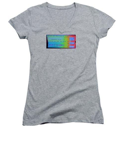 Grateful Dead - Ticket Stub Women's V-Neck T-Shirt