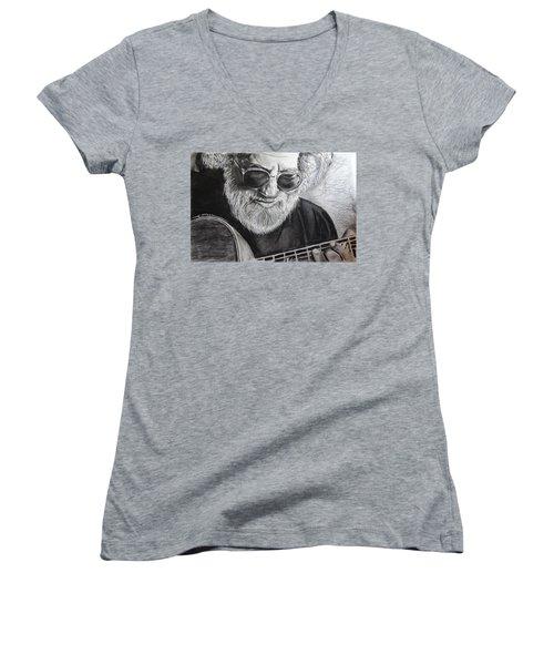 Grateful Dude Women's V-Neck T-Shirt (Junior Cut) by Eric Dee