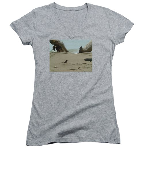 Gray Day On Maui Women's V-Neck