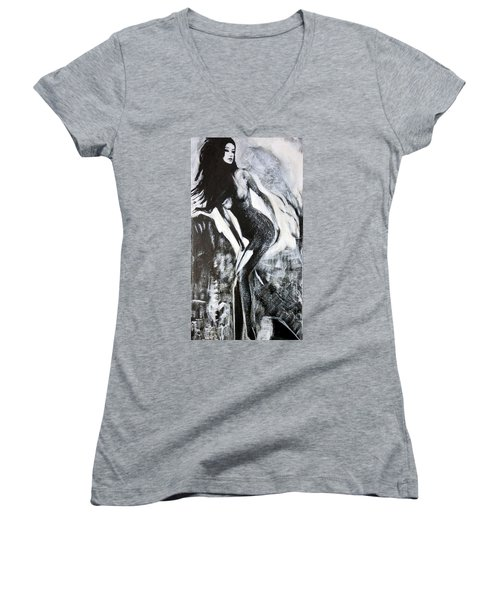 Gray Desert Women's V-Neck T-Shirt