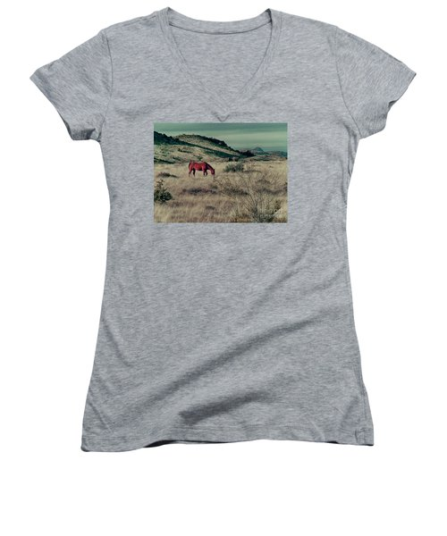Grazing Solo Women's V-Neck (Athletic Fit)