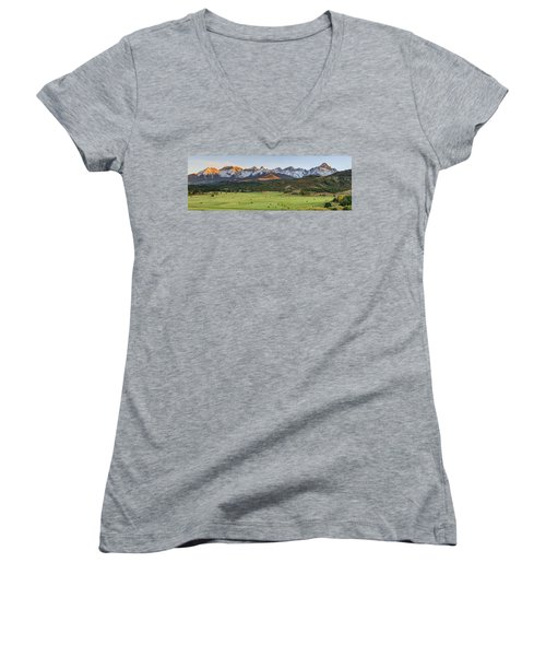 Grazing Under Sneffels Women's V-Neck