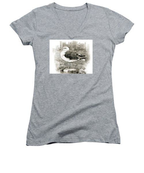 Great Black-backed Gull Women's V-Neck