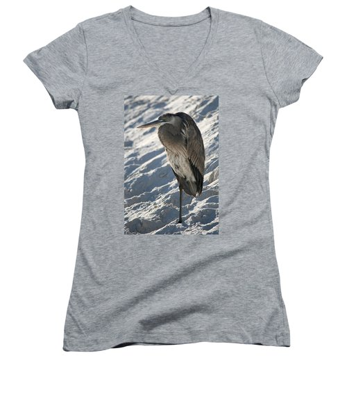 Great Blue Heron Women's V-Neck (Athletic Fit)