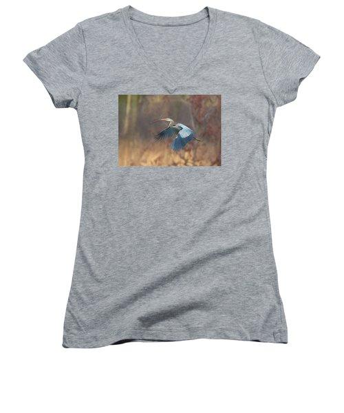 Great Blue Women's V-Neck T-Shirt (Junior Cut) by Kelly Marquardt