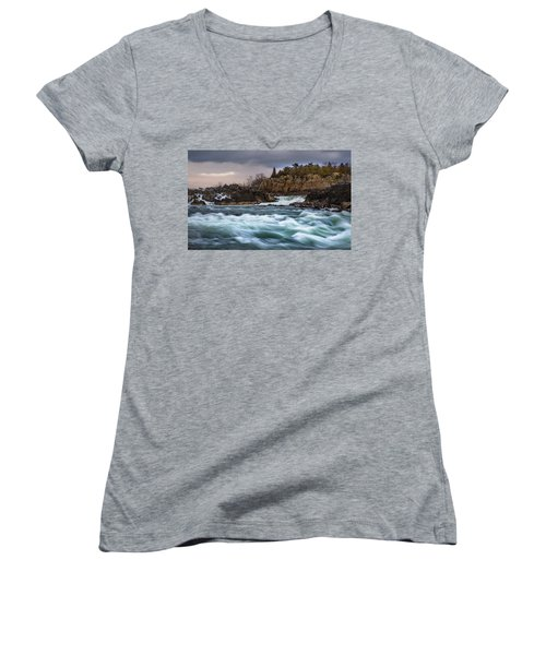 Great Falls Virginia Women's V-Neck (Athletic Fit)