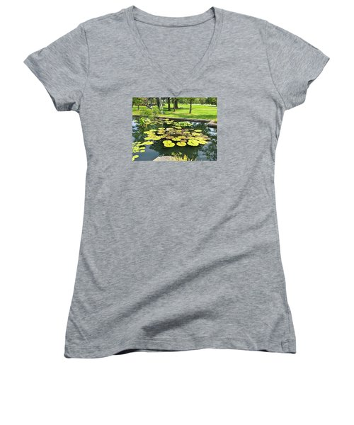 Great Greenery Women's V-Neck T-Shirt