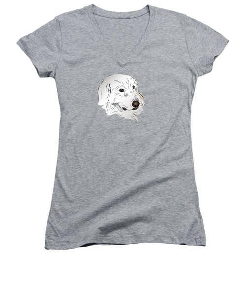 Great Pyrenees Dog Women's V-Neck