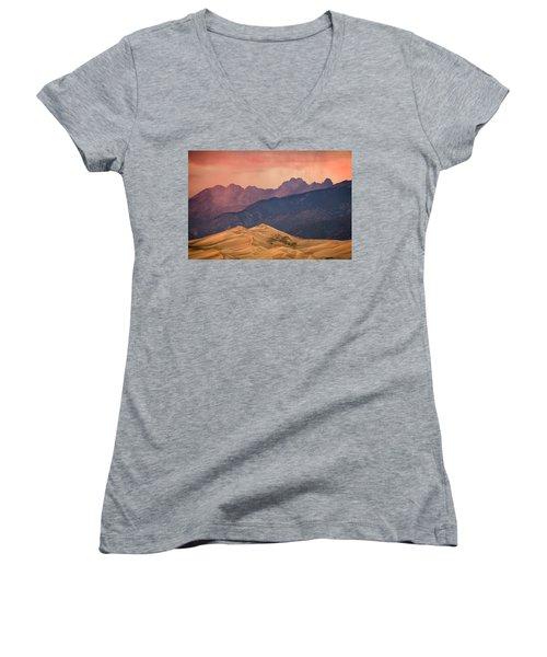 Great Sand Dunes Colorado Women's V-Neck