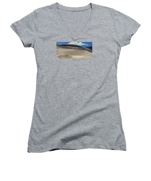 Great Sand Dunes National Park II Women's V-Neck T-Shirt (Junior Cut) by Greg Reed