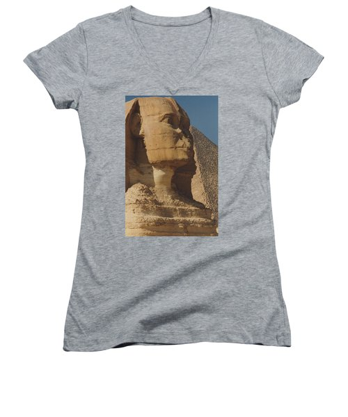 Great Sphinx Of Giza Women's V-Neck