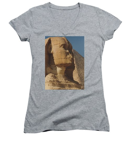 Great Sphinx Of Giza Women's V-Neck (Athletic Fit)
