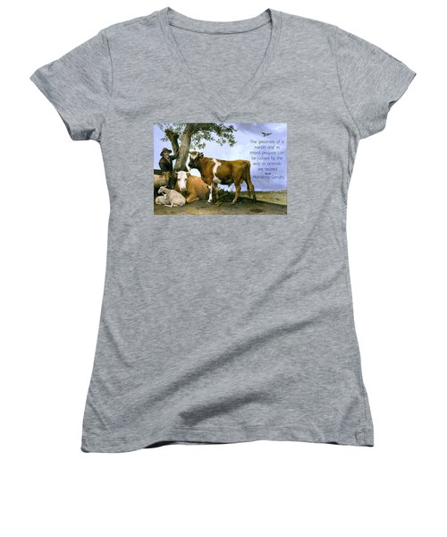 Greatness Of A Nation Women's V-Neck