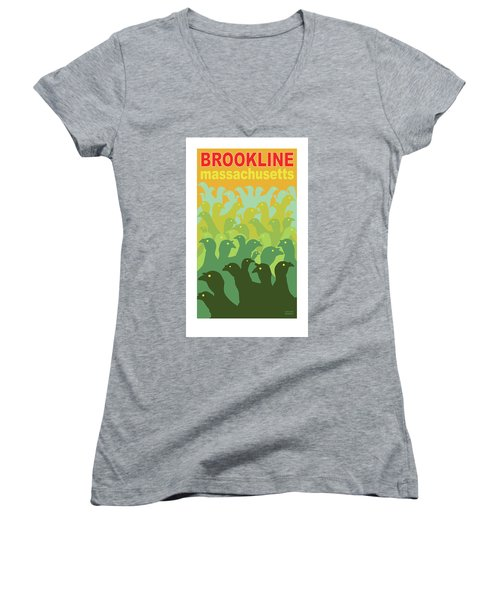 Green Fields Of Brookline Women's V-Neck