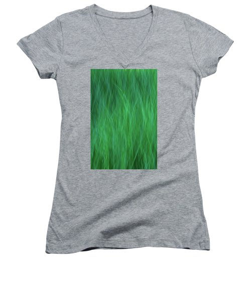Green Fire 2 Women's V-Neck T-Shirt