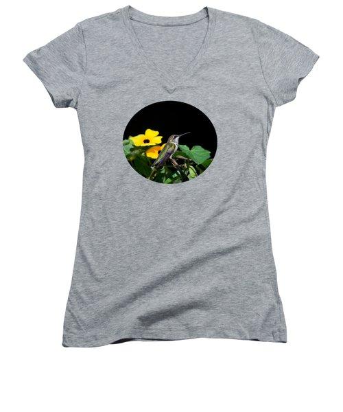 Green Garden Jewel Women's V-Neck T-Shirt